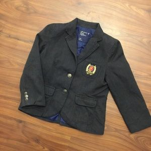 American Eagle Gold Crested Preppy School Blazer L